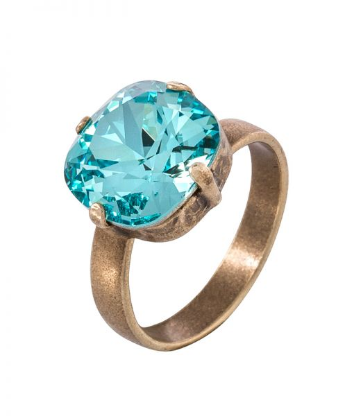 Ring in azur blau